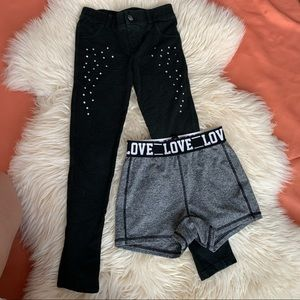 GIRL 2 PIECE OF BOTTOMS SIZE 6-6X